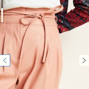 NWT Anthropologie Faux Leather Tapered Pants